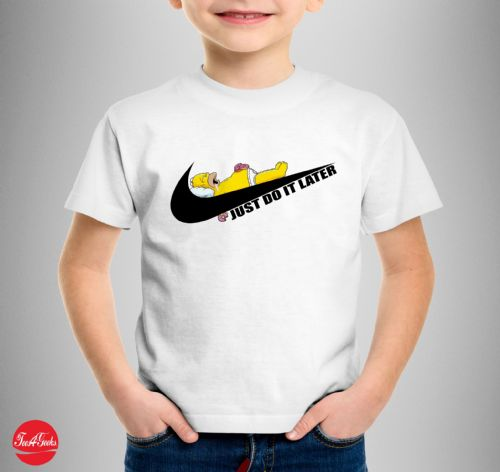 Just Do It Later Kids T-shirt